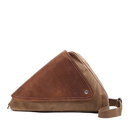 Mefly Uomini Casuale Della Mammella Caratteristiche Sacchetto Individuale Obliqui Di Spallamento Trasversale Travel Bag Sacchetto Impermeabile Caffè Khaki