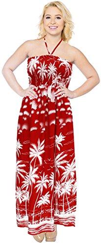 mujeres-de-la-falda-de-tubo-superior-del-beachwear-cubre-el-cuello-halter-vestido-largo-hasta-el-traje-de-bao-rojo