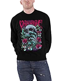 Bullet For My Valentine Sweat-Shirt Skull Rouge Eyes Roses officiel Homme