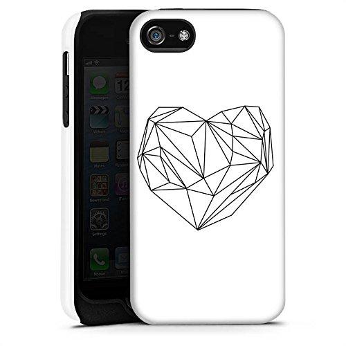 Apple iPhone X Silikon Hülle Case Schutzhülle Herz Liebe Love Tough Case matt