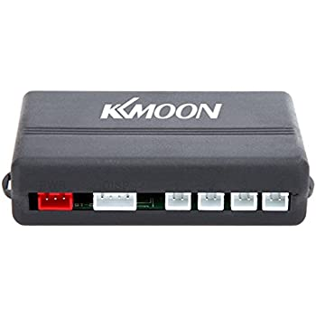 KKmoon Car LED Parking Reverse Backup Radar System with Backlight Display 4 Sensors (White/Blue/Grey/Red/Silver/Dark Blue Optional) (Silver)