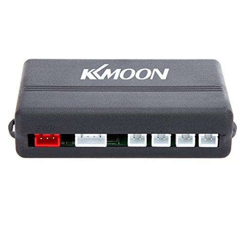 KKmoon LED Parking Reverse Auto Backup-System mit Backlight-Display, 4 Sensoren, Weiß/Grau Blau/Rot/silberfarben/Dunkelblau Optional) (silber) -
