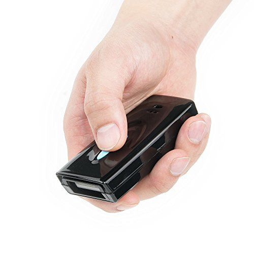sumeber Portable Mini Bluetooth Wireless handhede 2D/QR Barcode Scanner CCD Bar Code Reader für mobile Zahlung unterstützt Handy-Display mit 32 M memorry schwarz