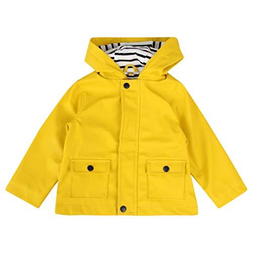 Larkwood Baby Boys Baby Girls Toddlers Raincoat, Rain Jacket PVC Jacket with Hood LW35T