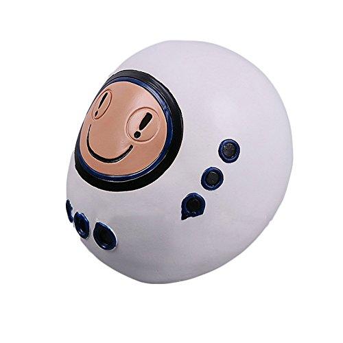 (nihiug Mystery Doctor Who Maske Emoji Robot Masken Film Und Fernsehen Halloween Headgear Requisiten,White-OneSize)