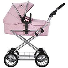 Silver Cross Carrito para muñecos de Viaje Sleepover: Tejido Vintage Pink. Recomendado para niños