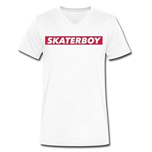 Skaterboy Männer T-Shirt mit V-Ausschnitt von Spreadshirt®,, gebraucht gebraucht kaufen  Wird an jeden Ort in Deutschland