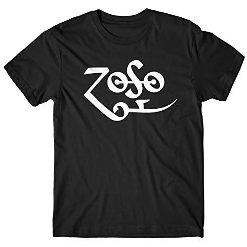 LaMAGLIERIA Herren-T-Shirt Zoso - T-Shirt Jimmy Page 100% Baumwolle, XL, Schwarz (Zoso Shirt)