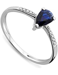 Miore - MP074R - Bague Femme - Or blanc 750/1000 (18 carats)1.2 Gr - Saphir et Diamants 0,04 cts