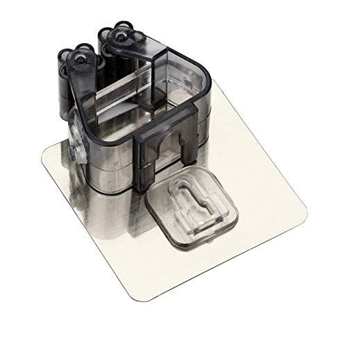 ZJDD Besen An Der Wand Befestigter Mopp-Organisator-Halter-Bürsten-Besen-Aufhänger-Speicher-Gestell-Küchen-Werkzeug, Schwarz -