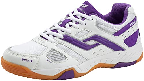 Pro Touch Damen Indoor-Schuh Rebel, Damen Multisport Indoor Schuhe, Weiß (Weiß/Purple 000), 42 EU (8 UK)