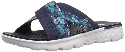 Skechers Damen On-the-Go 400-Tropical Sandalen, Blau (Nvy), 38 EU
