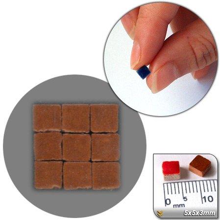 Mini Mosaïque (5x5x3mm), 1000 tesselles, Brun cuivré, RC02