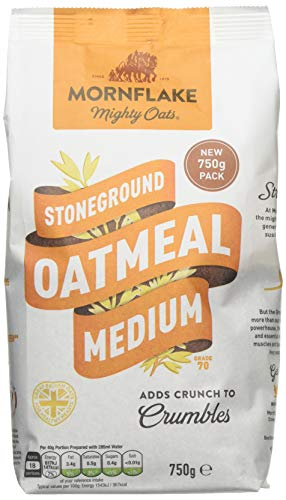 Mornflake Mighty Oats Stoneground Medium Oatmeal 750 g (Pack of 6)