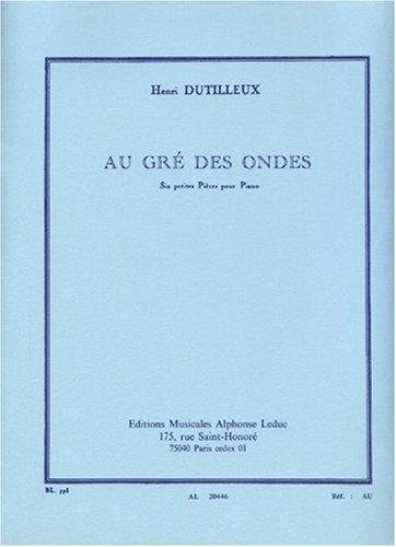 AU GRE DES ONDES PIANO BL773