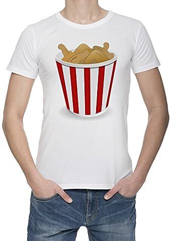 Poulet Frit Homme Blanc T-shirt Toutes Les Tailles | Men's