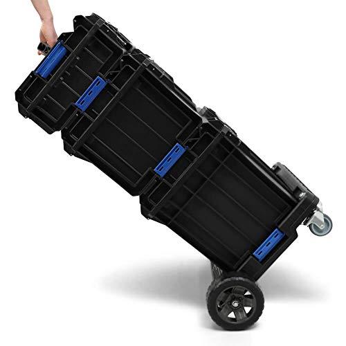 BULTO Werkzeugroller P1 PRO Werkzeugkoffer Plattform System - 3 stapelbare Boxen - Werkzeugbox Werkzeugkiste (Plattform-box)