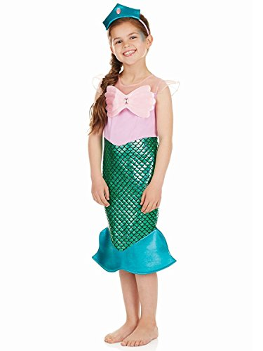 Meerjungfrau - Kinder Kostüm - Groß - 136cm - Alter ()