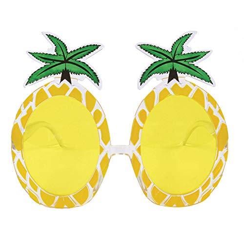 Romote Tropische Fiesta-Party-Ananas-Sonnenbrille für Feiertage, Grill- und Sommerfest, Kunststoff-gelb