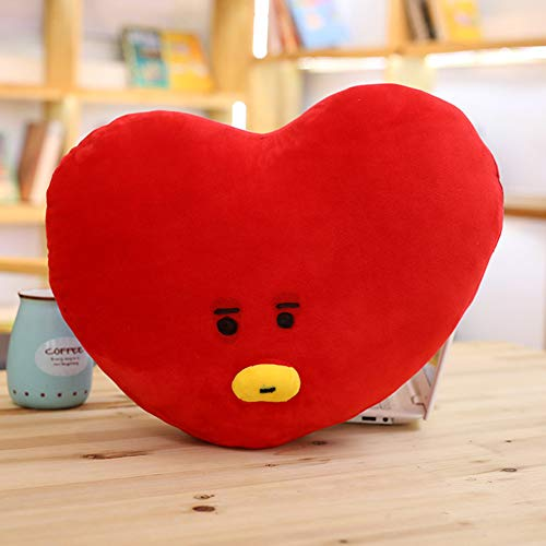 BTS muñecas de peluche, BTS Bangtanboys Jimin Jungkook Rapmonster V mismo estilo lindo aspecto sofá almohada de felpa – Ejército v heart Talla:30 x 40 cm