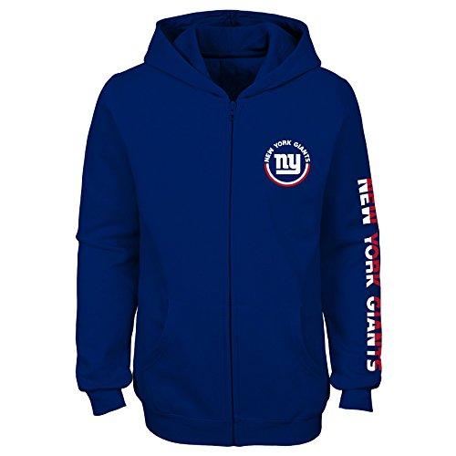 Outerstuff NFL New York Giants Mädchen Kapuzenpullover mit Reißverschluss, Mädchen, 9K1G6FASSF21 NYG B43-GXL16, königsblau, Youth Girls X-Large(16) (York Giants-mädchen New)