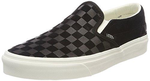 Vans Unisex-Erwachsene Classic Slip-on Sneaker, Schwarz (Checker Emboss), 43 - On Slip Schuhe Vans Schwarz