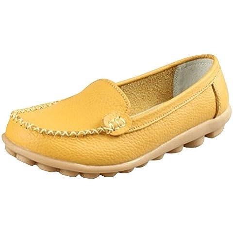 Minetom Donne Scarpe Basse Piatte di Ecopelle Pantofole Semplici Comode scarpe casual scarpe da guida