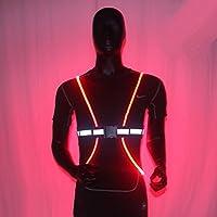 Hohe Sichtbarkeit Reflektierende Weste Übung Gürtel mit Luminous LED Faser Optik für Laufen, Joggen Radfahren, Walking, Hund, Walking, Motorrad und Reiten