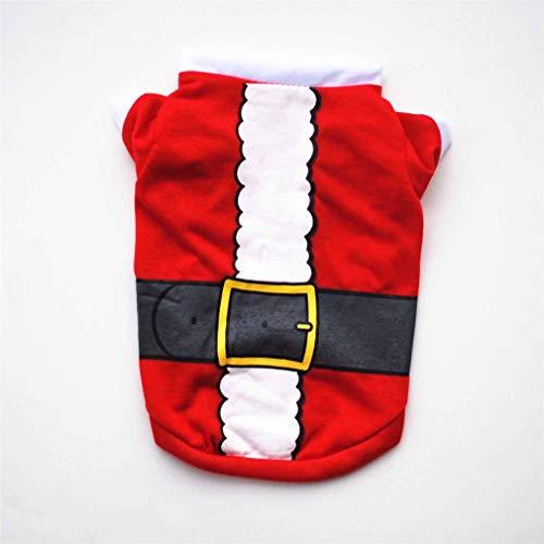 Hemore Pet Weihnachtsmann -L Kostüm Kleidung New Year Oppen Pet Kleidung Walk for Dog Kostüm Masquerade Transformation Kleidung
