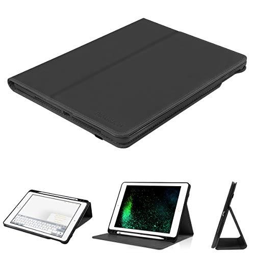 D DINGRICH Hülle für Neu ipad 2018, ipad 2017, ipad Pro 9.7, ipad Air 1, ipad Air 2- Echt Leder- Stifthalter- Magnetisch Schlaf/Wach- Bracket-Funktionen- iPad 9.7 Inch Hülle