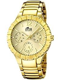 Amazon.es  relojes lotus dorados - Acero inoxidable  Relojes f3a0f088718e