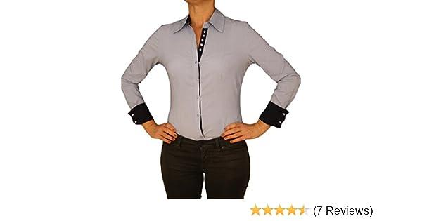 d4a377c2c6 7932 EXTRA ME Damen Stretch Bodys Blusen Bodybluse Blusenbody Farbe Hell  Blau Konfektionsgröße 40 Internationale Größe L hell blau L/40: Amazon.de:  ...