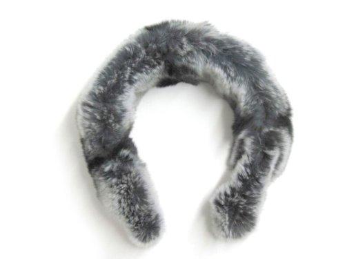 FursNewYork Damen Stirnband Gr. Einheitsgröße, Grau - Rex Chinchilla -