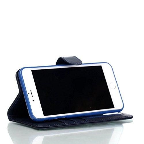 JIALUN-Telefon Fall Weaving Pattern PU Leder Schutzhülle Brieftasche Stand Case mit Card Slots und Foto Frame für Apple IPhone 7 Plus ( Color : 4 , Size : IPhone 7 Plus ) 2
