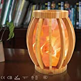 NA Lampada- Luci notturne Illuminazione decorativa Lampade al sale Lampada al sale di bambù Illuminazione agli ioni negativi Illuminazione Decorazione Camera da letto Sauna Lampada al sale Regali Lam