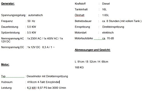 Kraftherz Diesel Stromerzeuger KH6600D Test - 8