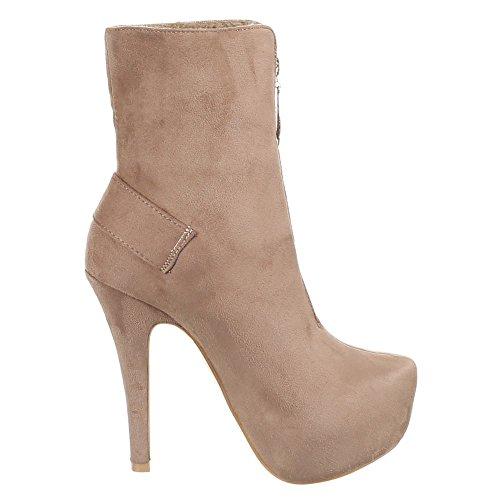 Chaussures pour femme taille, chevilles aNKLE bOOTS Beige - Beige