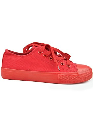 Baskets Basses Tennis Rouge Rouge