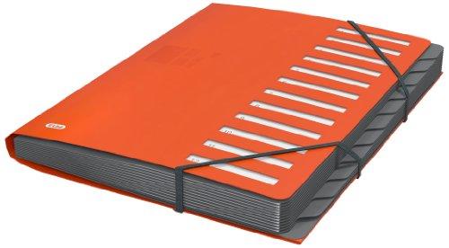 ELBA 400033686 Ordnungsmappe for Business aus Kunststoff 12 Fächer/Taben Pultordner orange - Profesionelle Projektorganisation auf dem Schreibtisch und unterwegs