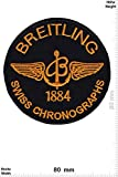 Patch - Breitling - 1884 - Swiss Chronographs - Cool Brands - Cool Brands - Breitling - Aufnäher - zum aufbügeln - Iron On