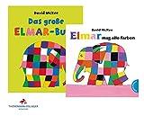 aers Das große Elmar-Buch: Sammelband (Gebundene Ausgabe) + Elmar Mag Alle Farben (Pappbilderbuch)