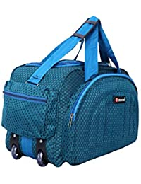 Zion bag Waterproof Polyester Lightweight 60 L Luggage Blue Travel Duffel Bag with 2 Wheels