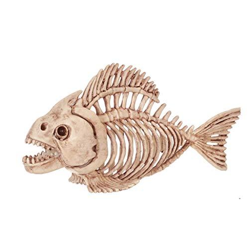 C&S Fisch Skelett Spukhaus Tier Skelett Horror Bar Film Requisiten Halloween Ornament
