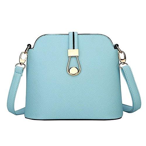 YipGrace Süßigkeiten Farbe Französisch-Stil Frau Schulter Tasche Schale Frau Bote Tasche Himmel Blau