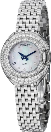 Bedat Women' s 26mm Steel Bracelet & case Swiss Quartz Analog Watch...
