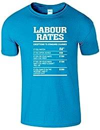 Labour Rates Hommes Femmes Dames Drole T-Shirt