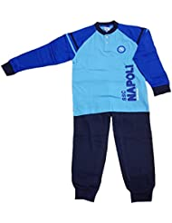 Pijama largo niño pantalón + camiseta oficial Napoli Fútbol * 15704
