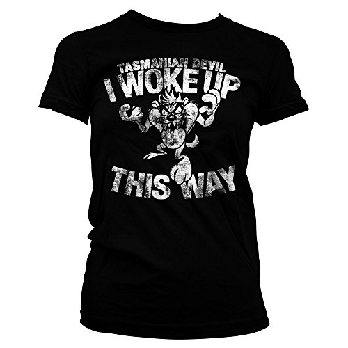 Looney Tunes Tasmanian Devil Woke Official Taz Warner Bros Black Womens T-Shirt