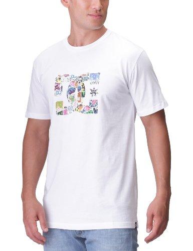 'DC Shoes–Maglietta da uomo wackyed, Uomo, T-Shirt Wackyed, bianco, XXL bianco