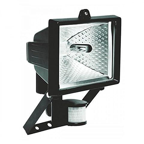 IP44Projecteur halogène Noir 400W 180° Détecteur de mouvement Lampe projecteur